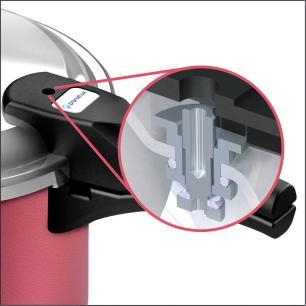 Panela de Pressão Panelux 4,5 litros Fechamento Externo Antiaderente cereja - Panelux
