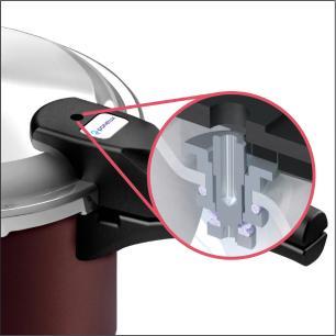 Panela de Pressão Panelux 4,5 litros Fechamento Externo Antiaderente marrom - Panelux