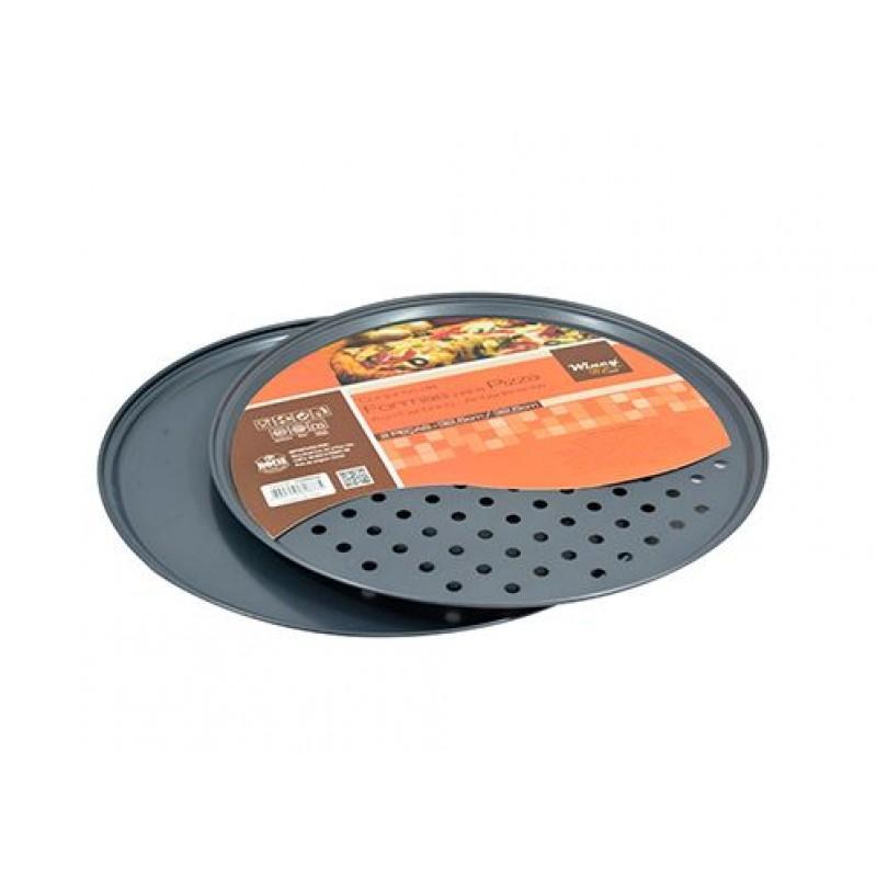 Forma Assadeira De Aco Carbono Para Pizza Com 2 Unidades 32 5cm De Ø