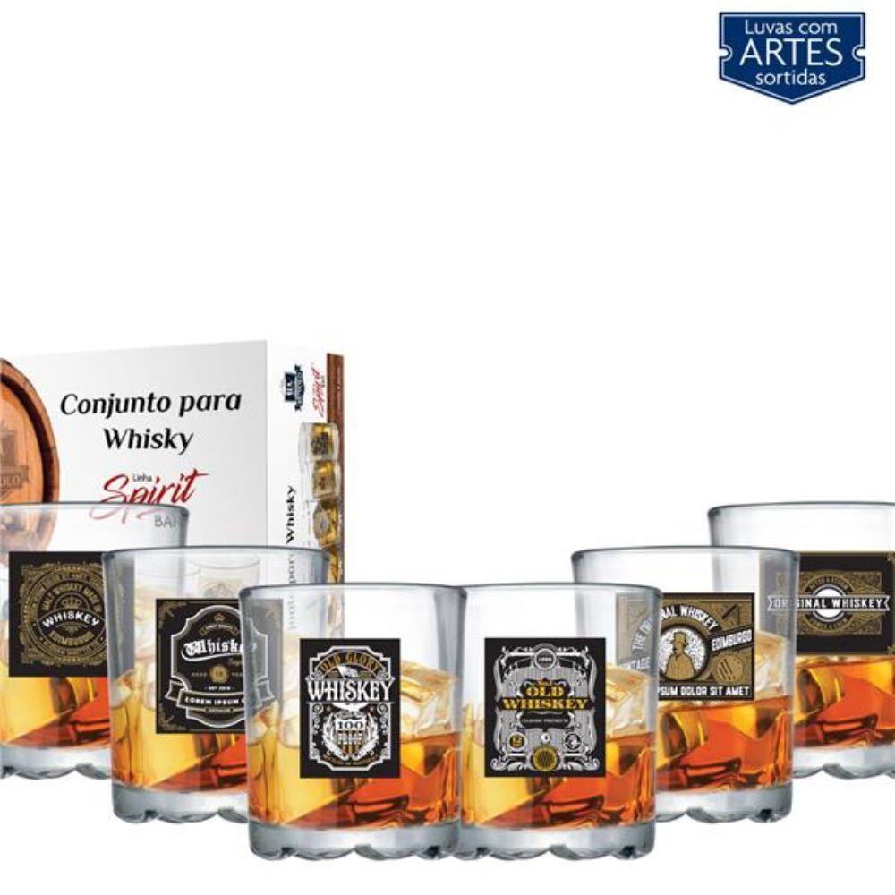 Conjunto Para Whisky Spirit Bar 6 Peças De 280Ml - Ruvolo