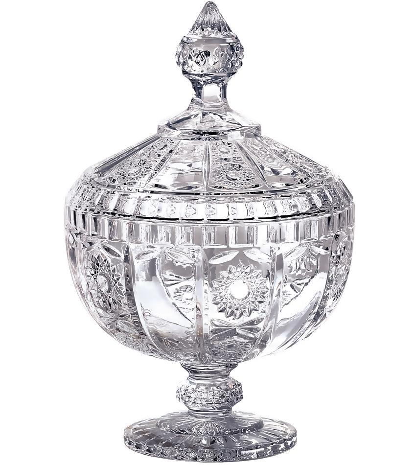 Bomboniere com Pé Cristal 23,8cm Versailles - L'Hermitage