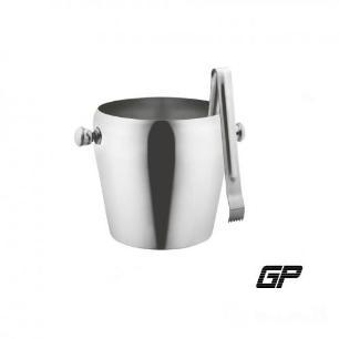 Balde De Gelo De Aço Inoxidável 1,0 Litro Com Pegador - Gp