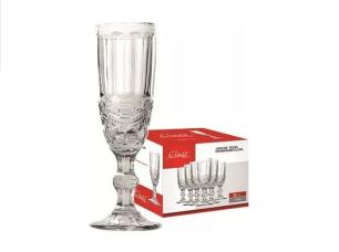 Conjunto de 6 Taças para Champagne 140ml Transparente