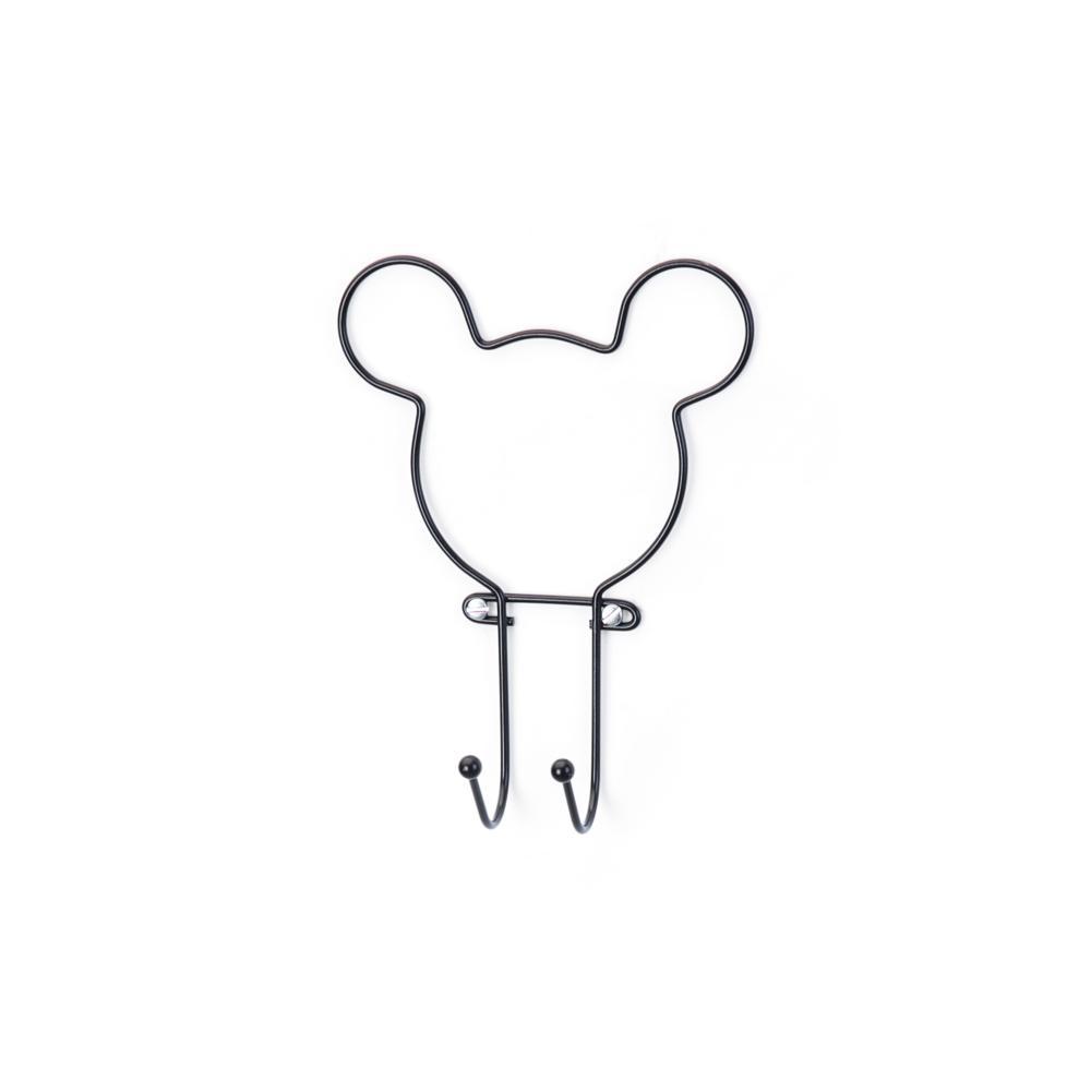 Suporte com 2 Ganchos Pendurador Black Wiring Mickey Disney - Arthi