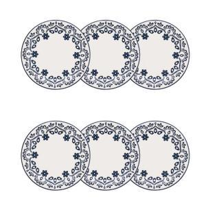Jogo de 6 Pratos de sobremesa 20 cm Floreal Energy – Oxford