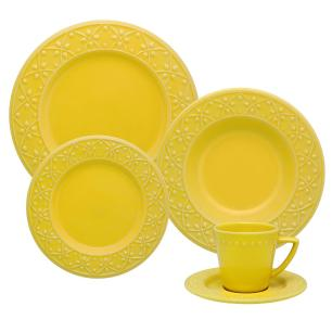 Aparelho De Jantar 20 Peças Sicília Amarelo - Oxford