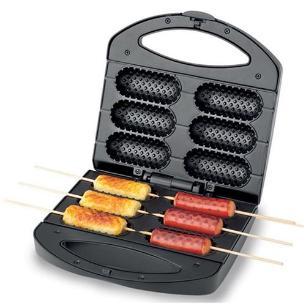 Crepeira Pratic Crepe & Hot Dog Mondial CP-01 Prepara 6 Crepes com 850W de Potência - Preta - 220V