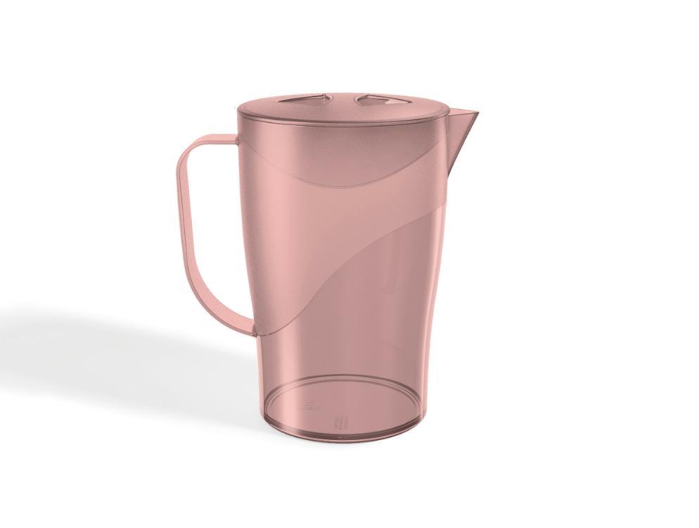 Jarra Plástica 2 Litros Rosa Translucido UZ
