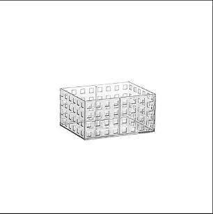Cesta Organizadora Empilhavel para Closet, Cozinha 16x11,5x 8cm
