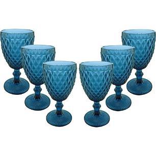 Jogo de Taças para Água Azul Verre com 6 Peças - Mimo Style