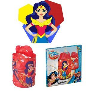 Porta Objetos Brinquedos Infantil Super Hero Girls- ArtBrink