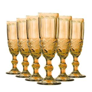 Taça de Champagne Elegance 140ml Amber Avulsa - Class Home