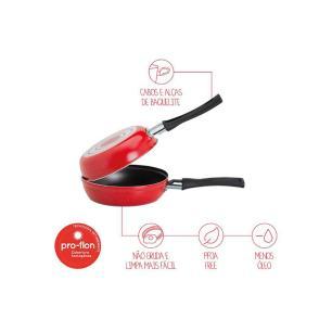 Omeleteira 18cm Teflon Garlic Vermelha Brinox