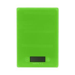 Balança de Vidro Digital de Cozinha 1g A 5kg - Verde