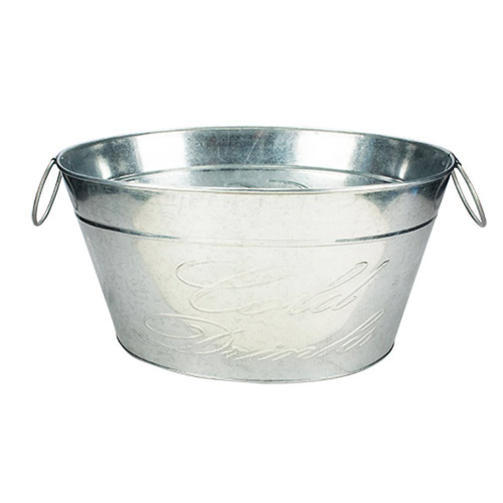 Cooler Para Festa Oval Em Metal 42,7x33cm