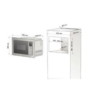 Forno Micro-Ondas De Embutir 25 Litros Inox Tramontina 220v