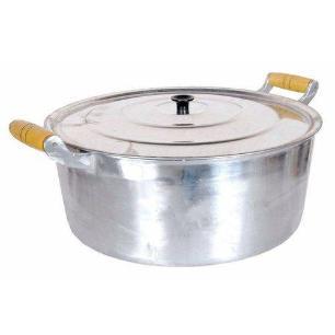 Caçarola Alumínio Fundido Polida Alça Mad 20Cm - Cinza