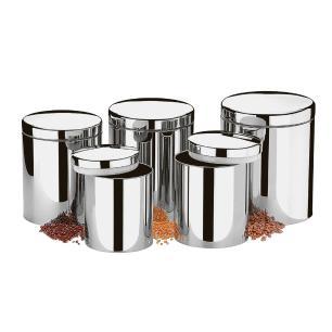 Conjunto De Potes de Mantimento 5 Peças Inox Suprema Brinox