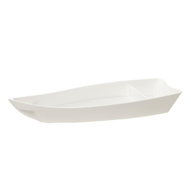 Barco para Sushi P Policarbonato Branco - Vemplast