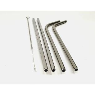 Kit 4 Canudos de Inox Ecológico Reutilizáveis com Escova - Mimo Style