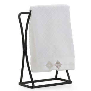 Porta Toalha de Bancada Aço Premium Piatina Black - Arthi