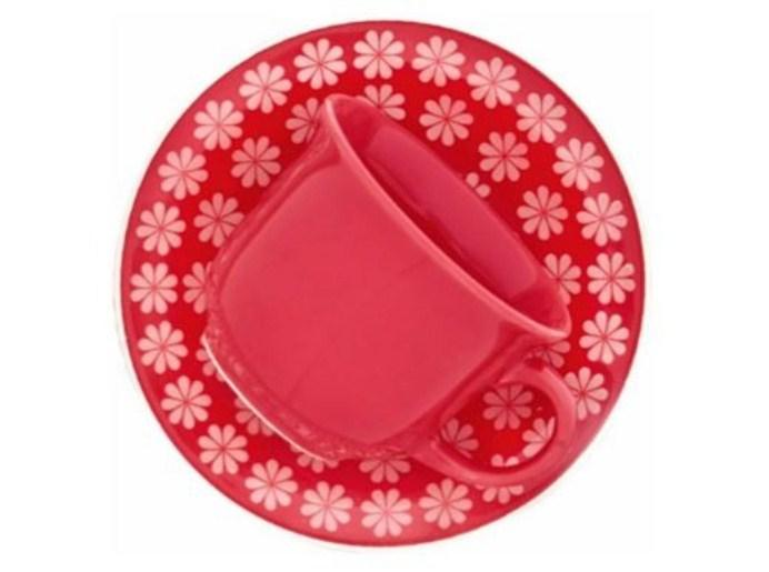 Jogo de Xícara de chá Floreal Renda 12 peças - Oxford