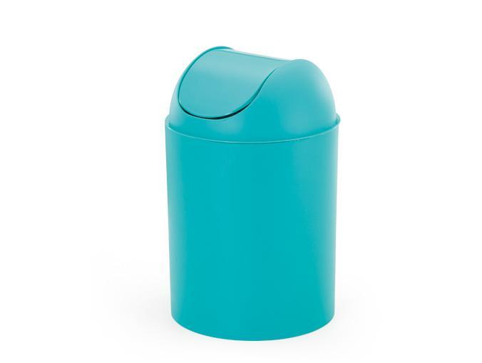 Lixeira 5l Com Tampa Basculante Azul Tifany Arthi