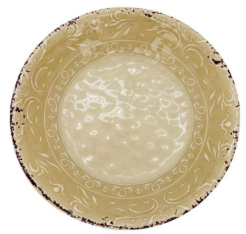 Travessa Redonda Funda Melamina 35 cm Antique