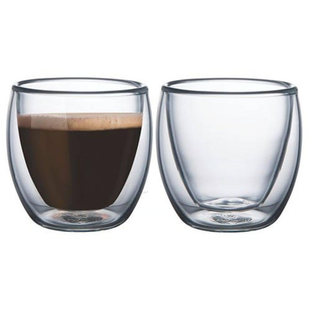 Conjunto de Xícaras de Vidro Duplo Café 80ml 2 Peças-Mimo