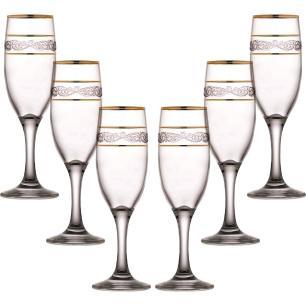 Jogo de Taças de Champagne  6 Peças Sultan 190ml  - Mimo