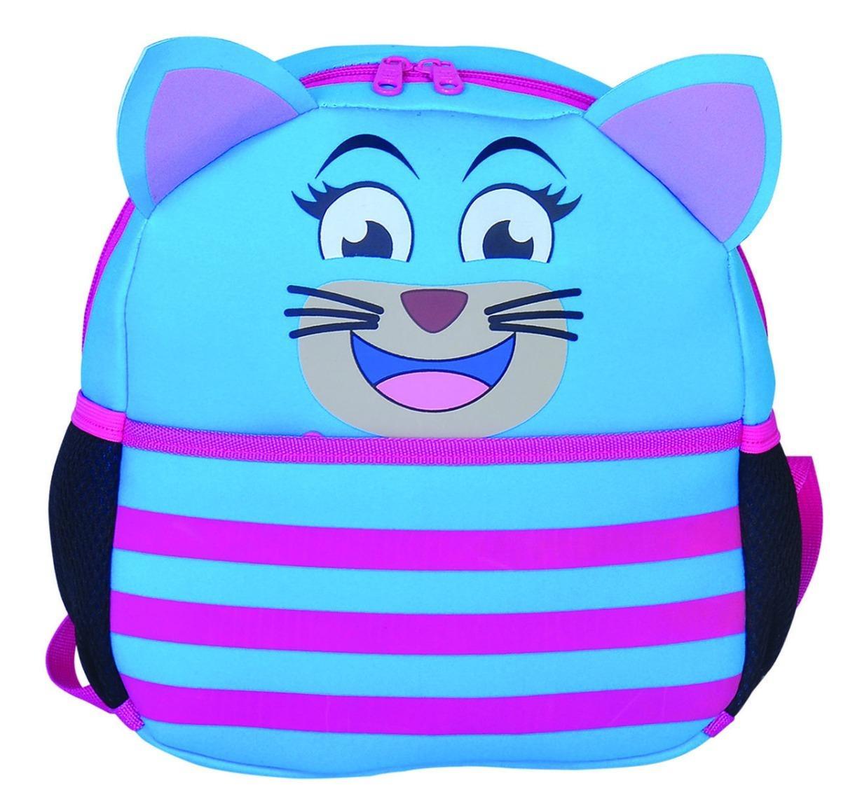 Mochila Térmica Infantil Gatinho Azul Bolsa 25x30 Cm - Wincy