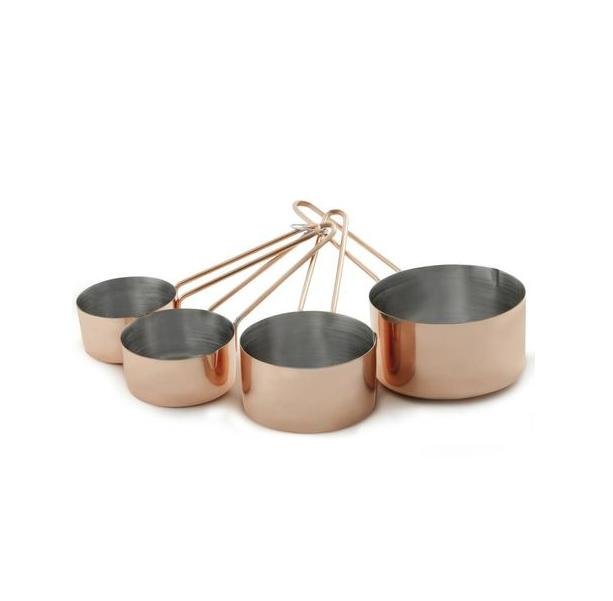 Kit com 4 Xícaras Medidoras Bronze - Mimo Style