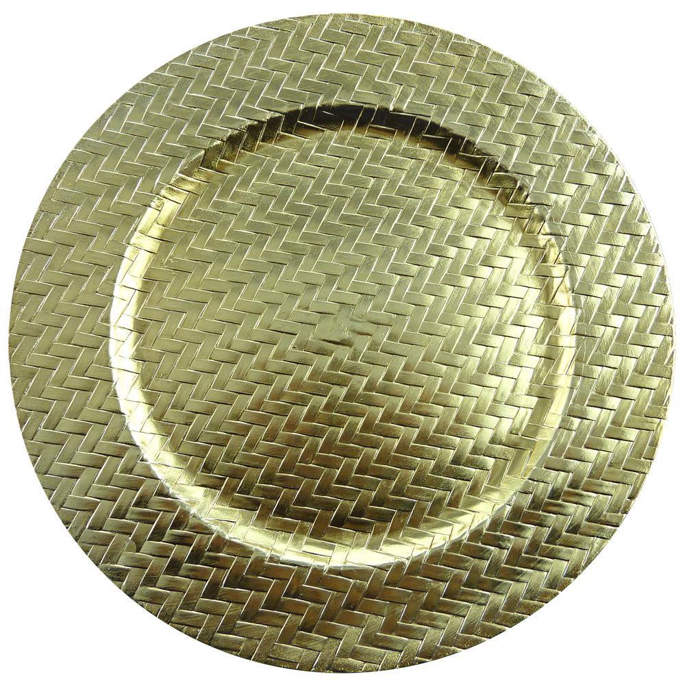 Sousplat Trançado SP14744 Dourado - Mimo Style