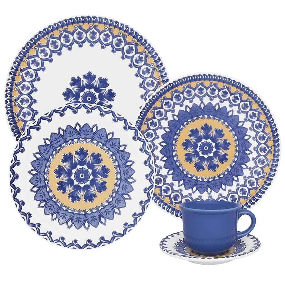 Aparelho de Jantar e Chá Floreal La Carreta 20 Peças - Oxford