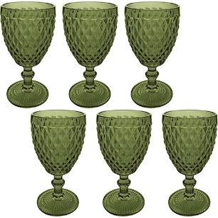 Jogo de 6 Taças Bico de Abacaxi Verde Verre Mimo Style