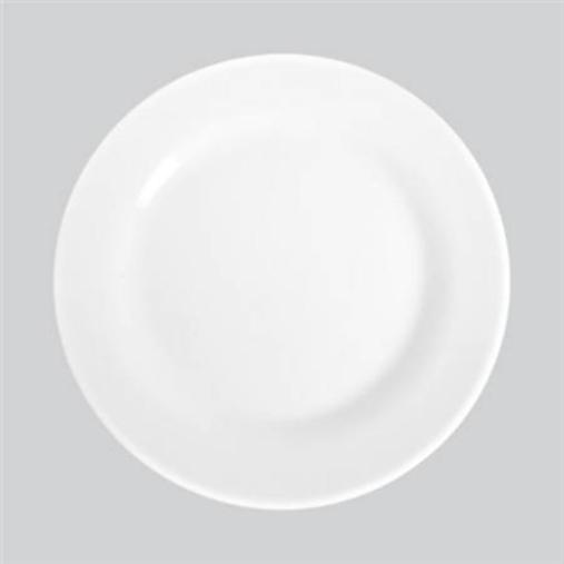 Prato Raso Branco de Vidro Temperado Opaline Nadir Figueiredo