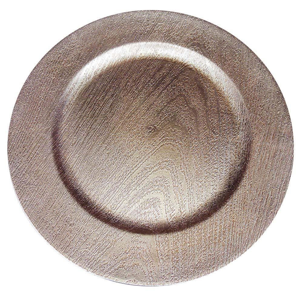 Sousplat Redondo Madel Bronze - Mimo Style
