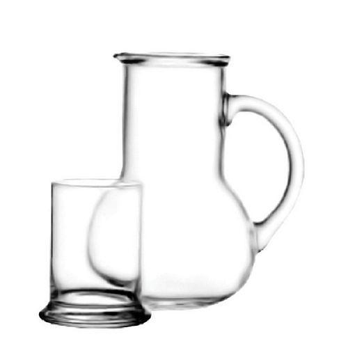 Jogo de jarra 1l c/ copo 250 ml de vidro - oasis - Fullfit