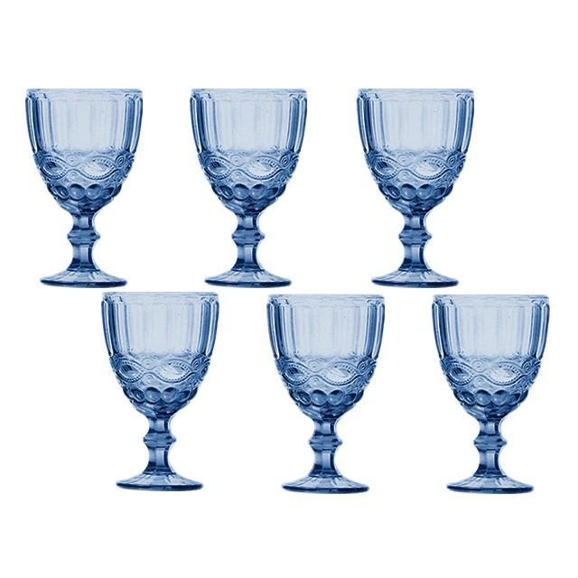 Jogo 6 Taças Água Azul - Class Home