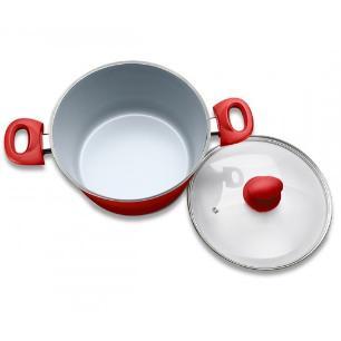 Jogo de Panelas 6 Peças Ceramic Life 2.5 Vermelha Brinox