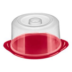 Boleira ou Prato para Bolo Redonda de Plástico 24,4x12,9cm - Sanremo
