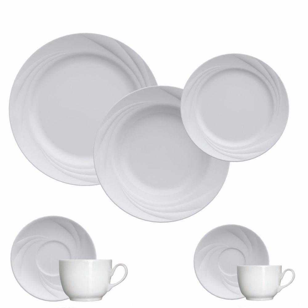 Aparelho De Jantar Chá Café 42 Peças Moinho