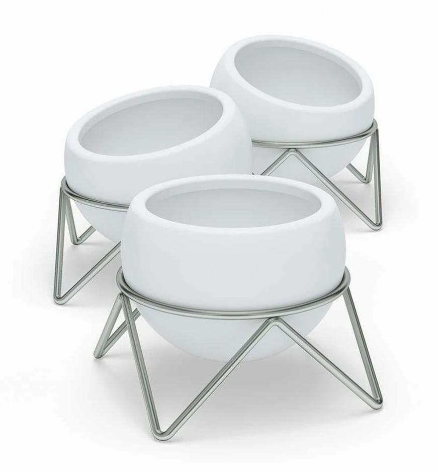 Jogo de Vasos de Mesa Potsy com 3 Peças Branco - Umbra