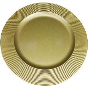 Sousplat Disco SP13716 Dourado - Mimo Style
