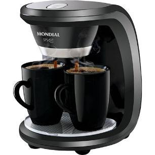 Cafeteira Elétrica Mondial Smart C-18 2 xícaras 130ml - Preta