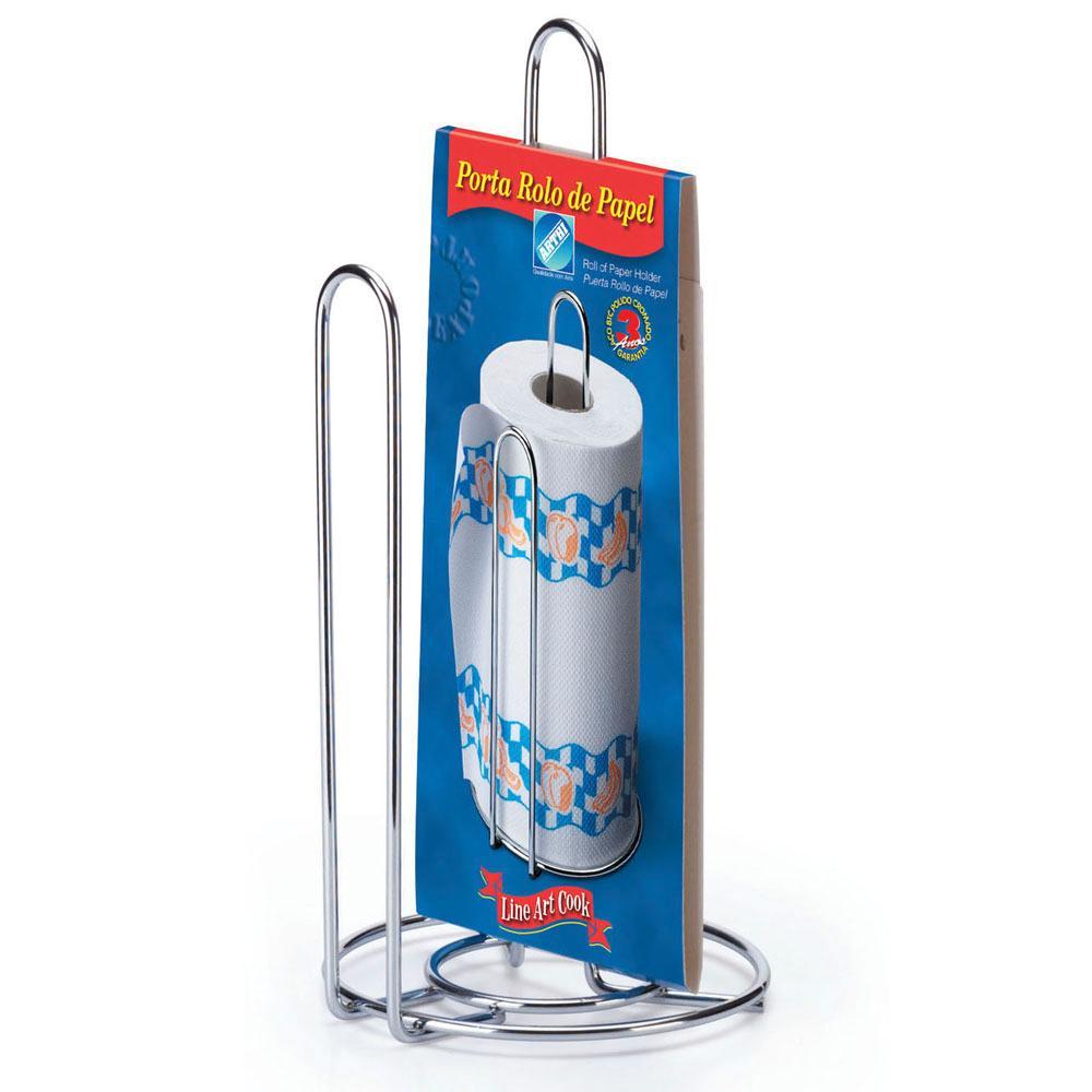 Porta Rolo de Papel Line Art Cook em Aço Cromado - Arthi