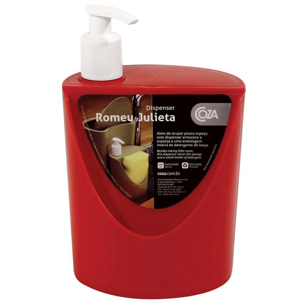 Dispenser de Sabão R&J 600ml Vermelha Brinox