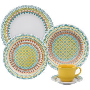 Aparelho de Jantar e Chá Daily Floreal Bilro - 20 Peças OXFORD