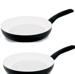 Jogo de 2 Frigideiras 24 cm Cerâmica Preta - Ruga