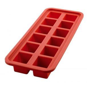 Forma De Gelo Quadrada Vermelha